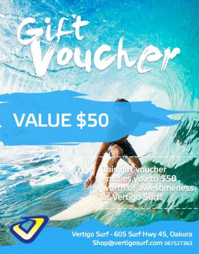 $50 surfing gift voucher