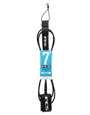 Vertigo Surf FCS ESSENTIAL SERIES REGULAR 7' LEASH Black