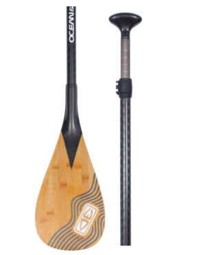 Vertigo Surf OCEAN & EARTH CARBON SHAFT/BAMBOO BLADE ADJ. PADDLE