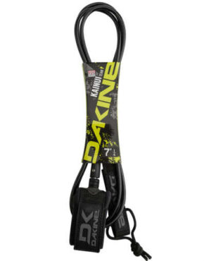 "Vertigo Surf DAKINE KAINUI TEAM LEASH 7' 1/4"" Irons Black"