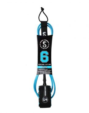 Vertigo Surf Sticky Johnson Leash 6Ft Competition Neon Blue
