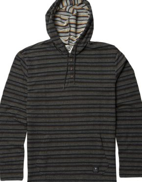 THE BOX HOODED HENLEY - BLK