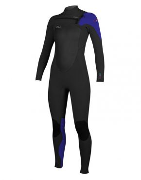 O Neill WOMENS SUPERFREAK FUZE 4 3MM WETSUIT – BLACK BLUE 3c8080b45