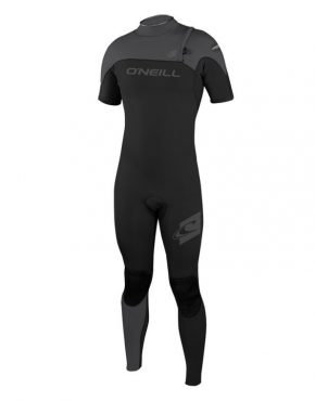 Vertigo Surf O'Neill HYPERFREAK ZIPLESS COMP SHORT SLEEVE FULL 2MM WETSUIT - BLACK GREY