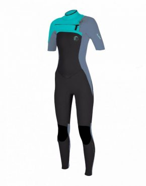 O Neill WOMENS SUPERFREAK FUZE 2MM SHORT SLEEVE FULL WETSUIT – BLACK AQUA 1484b719a