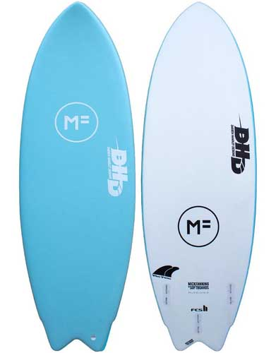 Mick Fanning DHD Twin Softboard Aqua 54 FCS II