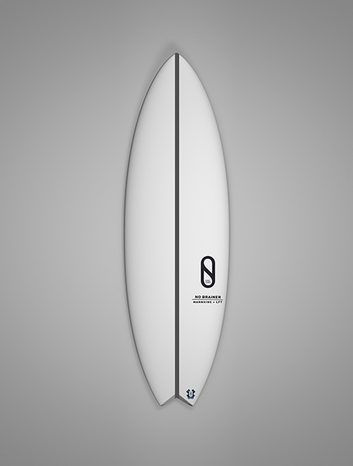 "SLATER DESIGNS - NO BRAINER 5'7"" Futures"