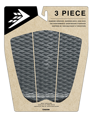 FIREWIRE 3 PEICE ARCH TRACTION PAD - CHARCOAL/BLACK